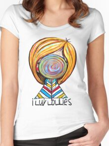 I LUV LOLLIES! Women's Fitted Scoop T-Shirt