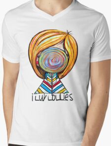 I LUV LOLLIES! Mens V-Neck T-Shirt