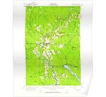 Maine USGS Historical Map Ashland 460119 1953 62500 Poster