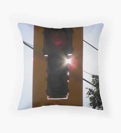 Stop Light. Throw Pillow