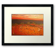 Australiana  (Aussie Bush Cricket)  EJCairns  Original Sold  Framed Print