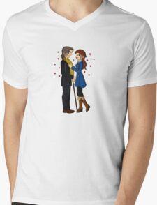 RxB Hearts Mens V-Neck T-Shirt