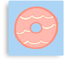 Pink Party Ring Biscuit Canvas Print