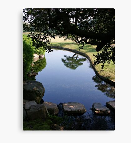 Okayama Korakuen Garden Reflection Canvas Print