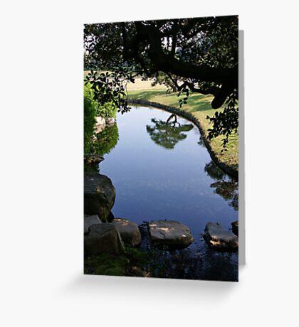 Okayama Korakuen Garden Reflection Greeting Card