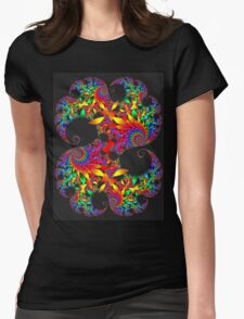 Classic Mandelbrot with Petals Womens Fitted T-Shirt