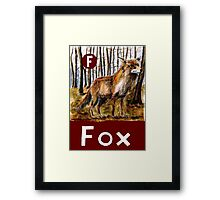 F is for Fox Framed Print