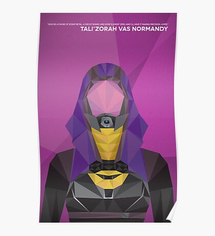 Tali'Zorah Vas Normandy Poster