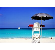 Lifeguard Not on Duty Photographic Print