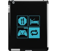 Eat, Sleep, Game, Repeat. iPad Case/Skin