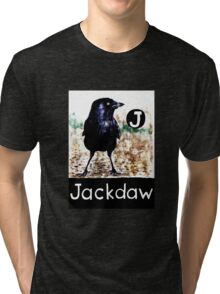 J is for Jackdaw Tri-blend T-Shirt