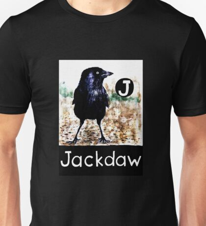 J is for Jackdaw Unisex T-Shirt