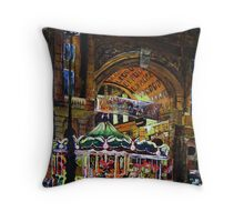 Merry go round in Florence Throw Pillow