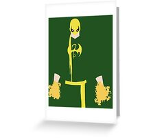 Iron Fist Minimalism Greeting Card
