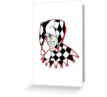 Sad Arlequin Greeting Card