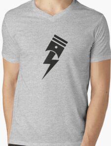 Bolt Piston Mens V-Neck T-Shirt