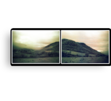 muted landscape paired version Canvas Print