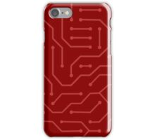 phone case -Red circuit iPhone Case/Skin