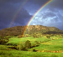 Rainbow near Bega, NSW. by Ern Mainka