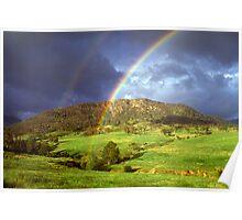 Rainbow near Bega, NSW. Poster