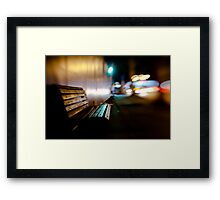 bench@night Framed Print