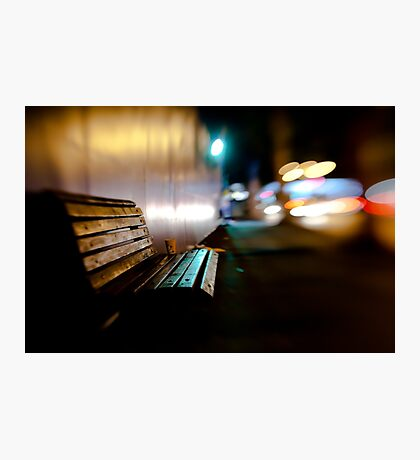 bench@night Photographic Print