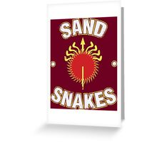 Game of Thrones - Sand Snakes Greeting Card
