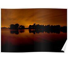 Hatchet Pond @ night Poster