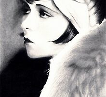 Clara Bow Pencil Drawing by booters
