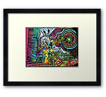 South American Scribbles Framed Print