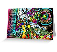 South American Scribbles Greeting Card