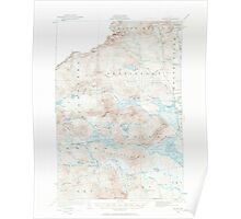 Maine USGS Historical Map Attean 306446 1923 62500 Poster