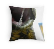 Open wide (as close as you can get) Throw Pillow
