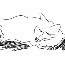 Sketched Cat 8 by Gabriele Maurus