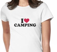 I love camping Womens Fitted T-Shirt