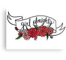girl almighty Canvas Print