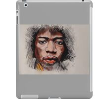 Jimmy Hendrix - Musician in Pastels iPad Case/Skin