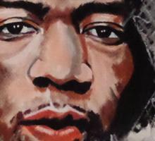Jimmy Hendrix - Musician in Pastels Sticker