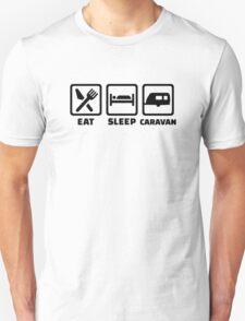 Eat sleep caravan Unisex T-Shirt
