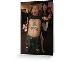 Beer Punk Greeting Card