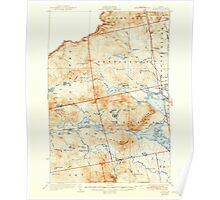 Maine USGS Historical Map Attean 460122 1925 62500 Poster