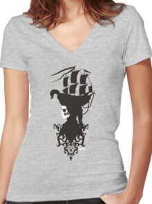 Smart pirate Women's Fitted V-Neck T-Shirt