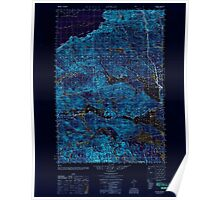 Maine USGS Historical Map Attean 460123 1950 50000 Inversion Poster