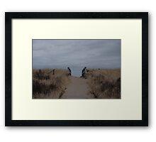 Follow The Sand Framed Print