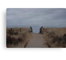 Follow The Sand Canvas Print