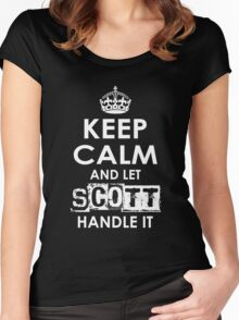 Keep Calm and Let Scott Handle It Women's Fitted Scoop T-Shirt