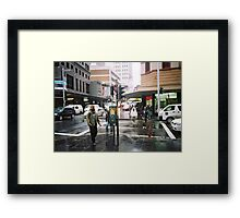rain in Sydney Framed Print