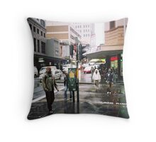 rain in Sydney Throw Pillow