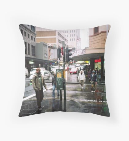 rain in Sydney Throw Pillow
