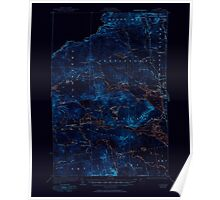 Maine USGS Historical Map Attean 460124 1925 62500 Inversion Poster